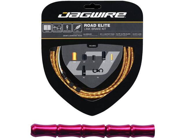 Jagwire Road Elite Link Remkabel Set, red